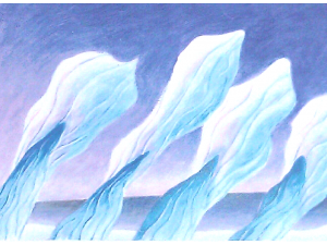 Sculptured Ice by Wind